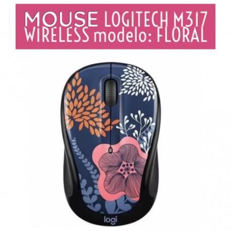 MOUSE LOGITECH M317 WIRELESS FLORAL 910-005665