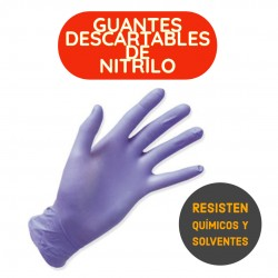 GUANTES DESCARTABLES DE NITRILO