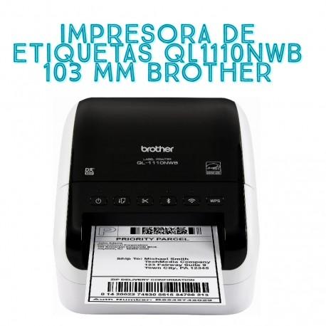 IMPRESORA DE ETIQUETAS QL1110NWB 103 MM BROTHER