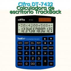 Cifra DT-7422 Calculadora de escritorio TrackBack
