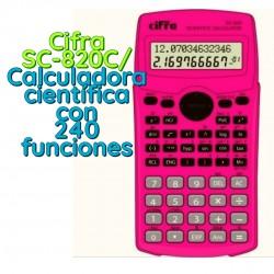 Cifra SC-820C/ Calculadora científica con 240 funciones