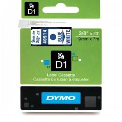 CINTA LAMINADA DYMO 40914 BLANCO/AZUL 9mm