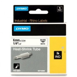 CINTA TERMOCONTRAIBLE RHINO 18051 BLA/NEG 6mm X 1,5 Mts